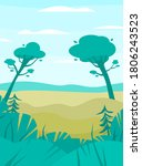 bright landscape with green...   Shutterstock .eps vector #1806243523