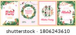 set of invitation posters for... | Shutterstock .eps vector #1806243610