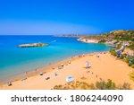 Sandy Beach Of Kalathas With...