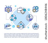 supply chain concept icon with... | Shutterstock .eps vector #1806248446