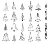 collection of 20 different... | Shutterstock .eps vector #1806253483