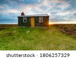 Sunset Over A Shieling Hut On...