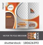 pizza shop tri fold mock up  ... | Shutterstock .eps vector #180626393