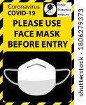 please wear a face mask avoid... | Shutterstock .eps vector #1806279373