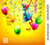 birthday background with... | Shutterstock .eps vector #180628304