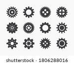 gears collection. vector flat... | Shutterstock .eps vector #1806288016