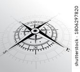 black wind rose isolated on... | Shutterstock . vector #1806297820