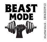 beast mode vector arts design.   Shutterstock .eps vector #1806303913