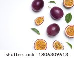 fresh ripe passion fruits ... | Shutterstock . vector #1806309613