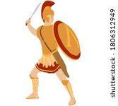 Ancient Sparta Warrior With A...