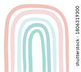 pastel big rainbow in cartoon...   Shutterstock .eps vector #1806319300