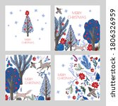 christmas cards with rustic ...   Shutterstock .eps vector #1806326959