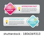 did you know interesting fact... | Shutterstock .eps vector #1806369313