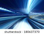 truck light trail of train | Shutterstock . vector #180637370