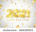 2021 happy new year card with... | Shutterstock .eps vector #1806383053