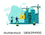 real estate concept in flat...   Shutterstock . vector #1806394900