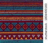 multicolor tribal vector... | Shutterstock .eps vector #1806400183