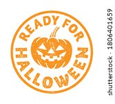 'ready for halloween' stamp...   Shutterstock .eps vector #1806401659