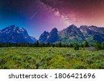 Galaxy Sky Over Grand Teton
