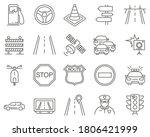 set of traffic line vector... | Shutterstock .eps vector #1806421999