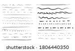 set of wavy horizontal lines.... | Shutterstock .eps vector #1806440350
