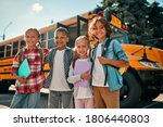 Back To School. Multiracial...