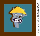 cat with a smirk wearing asian... | Shutterstock .eps vector #1806443560