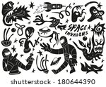 space invaders  aliens  ... | Shutterstock .eps vector #180644390