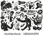 space invaders  aliens  ... | Shutterstock .eps vector #180644390