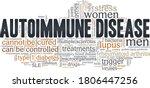 autoimmune disease vector... | Shutterstock .eps vector #1806447256
