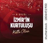 september 9  salvation of izmir.... | Shutterstock .eps vector #1806451900