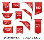 order now red banners ... | Shutterstock .eps vector #1806475279