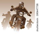 bikers on the road. vector...   Shutterstock .eps vector #180647738