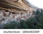View Of Ancient Pueblo Cliff...