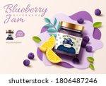 3d illustration of blueberry... | Shutterstock . vector #1806487246