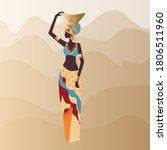 vector  luxurious african woman ... | Shutterstock .eps vector #1806511960