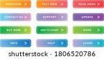 gradient web button premium set