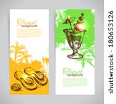 banner set of travel colorful... | Shutterstock .eps vector #180653126