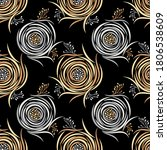 seamless abstract rose flower... | Shutterstock .eps vector #1806538609