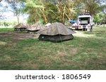 a campsite in a park in kenya | Shutterstock . vector #1806549