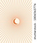 abstract moon. contemporary ... | Shutterstock .eps vector #1806563776