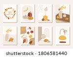 autumn abstract boho posters...   Shutterstock .eps vector #1806581440