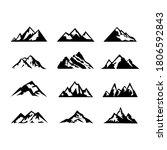 vintage monochrome mountains... | Shutterstock .eps vector #1806592843