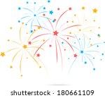 fireworks with star on white...   Shutterstock .eps vector #180661109