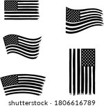 vector of the american flag   4 ... | Shutterstock .eps vector #1806616789