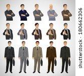 business men   isolated on gray ... | Shutterstock .eps vector #180662306