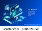 ui ux design  application... | Shutterstock .eps vector #1806629050