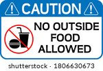 no outside food allowed caution ... | Shutterstock .eps vector #1806630673