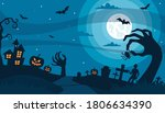 Halloween Night Background With ...