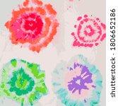 tie dye circle vector.... | Shutterstock .eps vector #1806652186